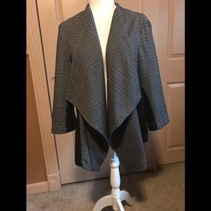 Lane Bryant Swing Jacket w/ handkerchief front